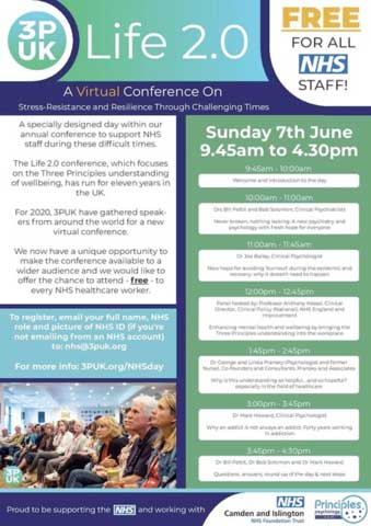 image for NHS workers virtual free conference