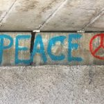 image of word peace on wall